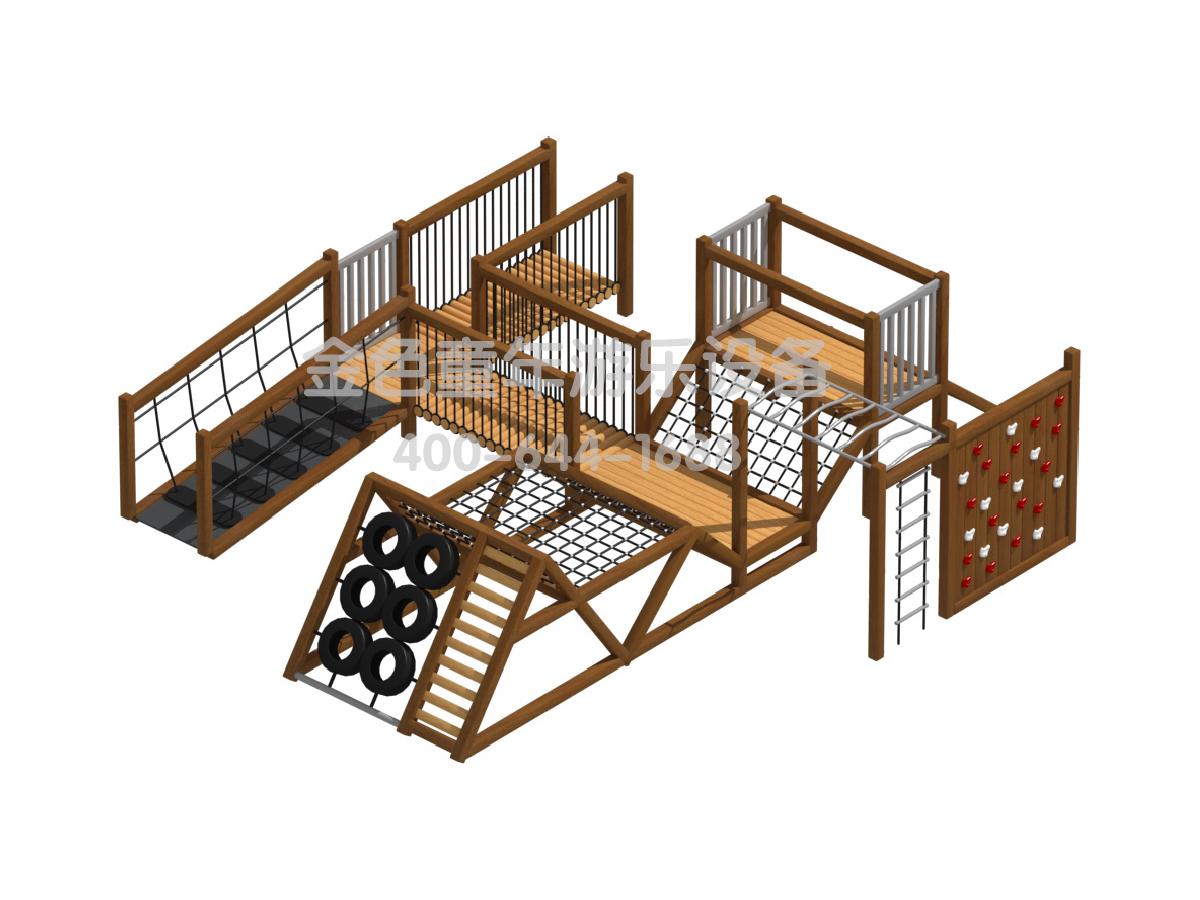 木质攀爬组合设施B