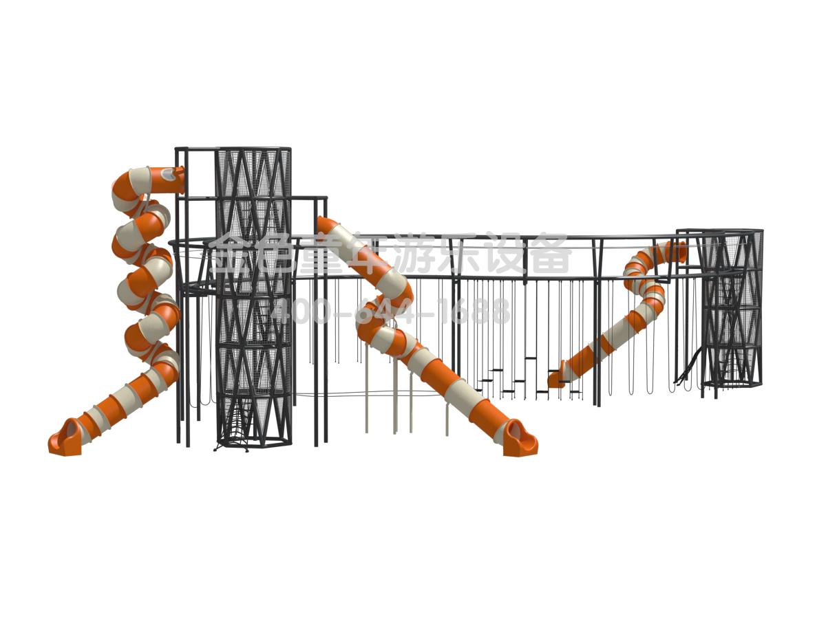 <b>DNA塔型非标景观定制滑梯</b>