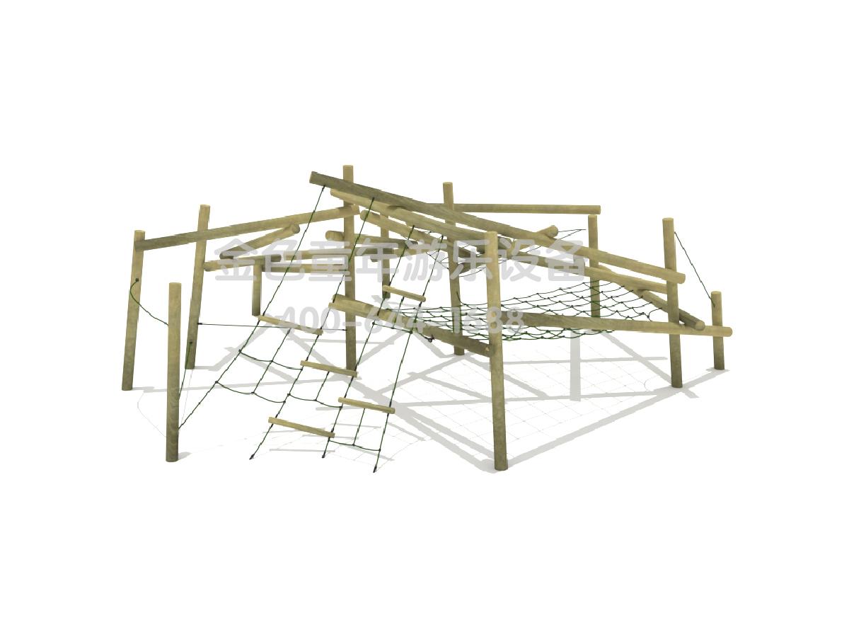 木质绳网组合攀爬架B
