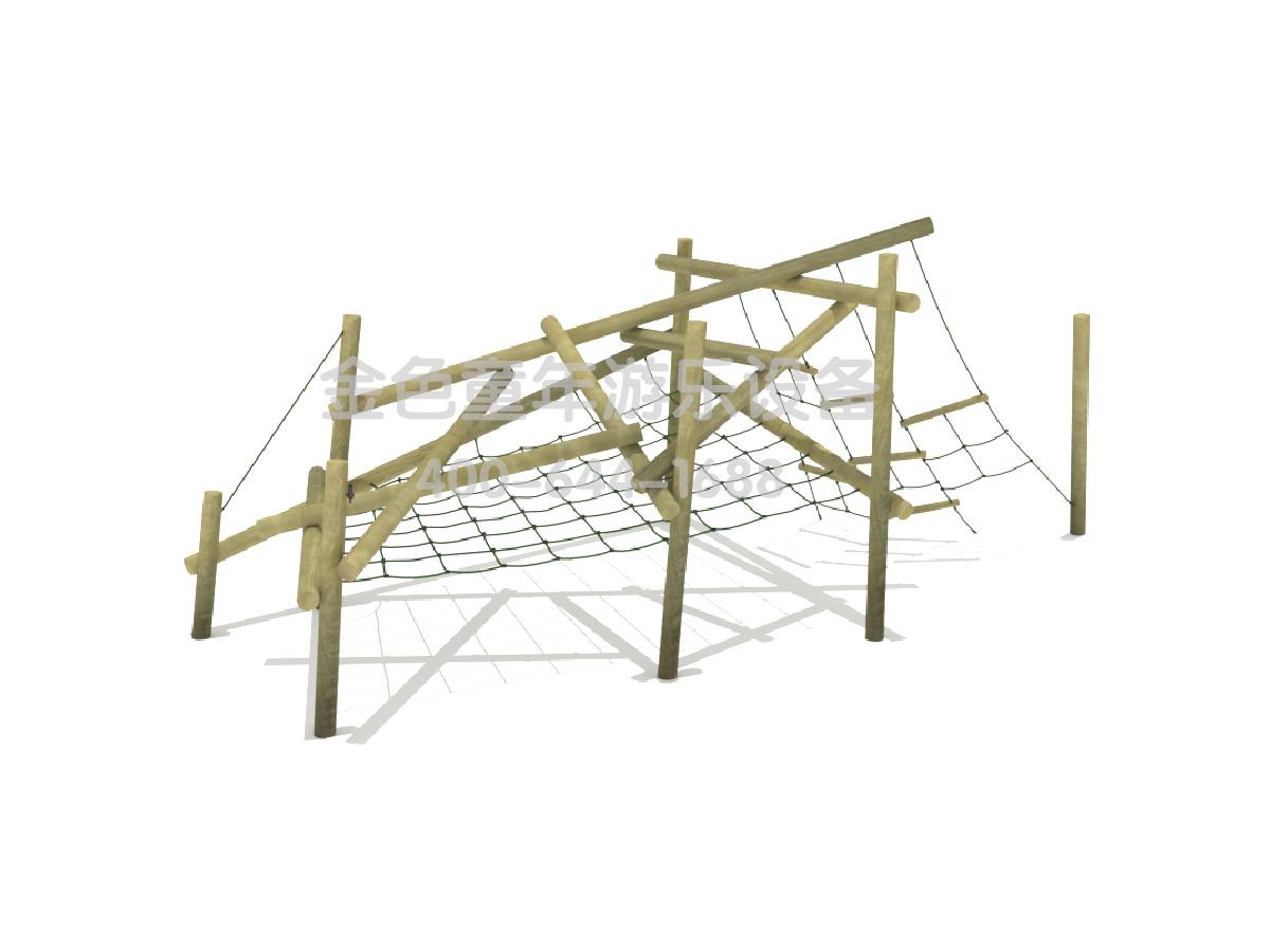 木质绳网组合攀爬架A