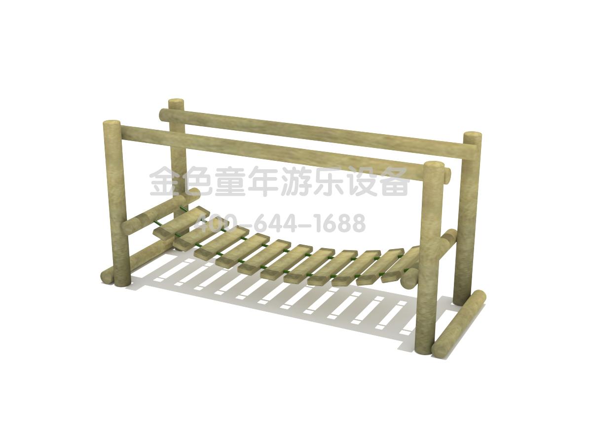 木质荡桥平衡训练器材