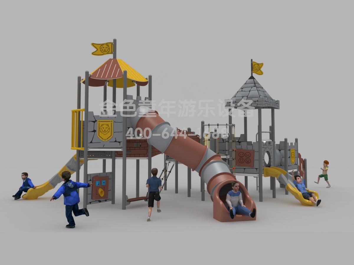 城堡主题定制滑梯