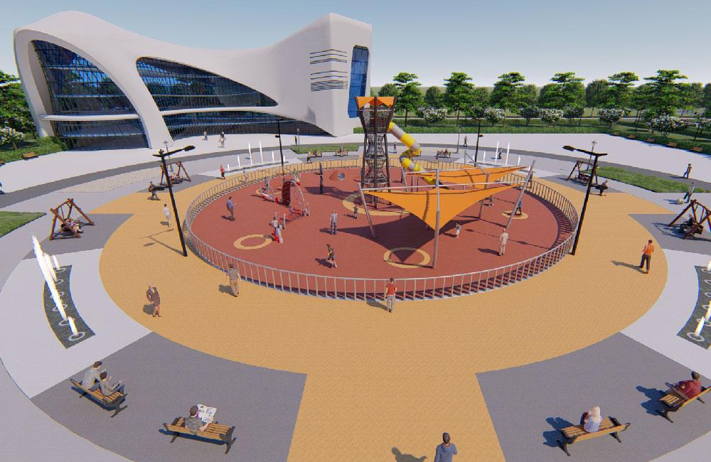 时代广场游乐场地规划