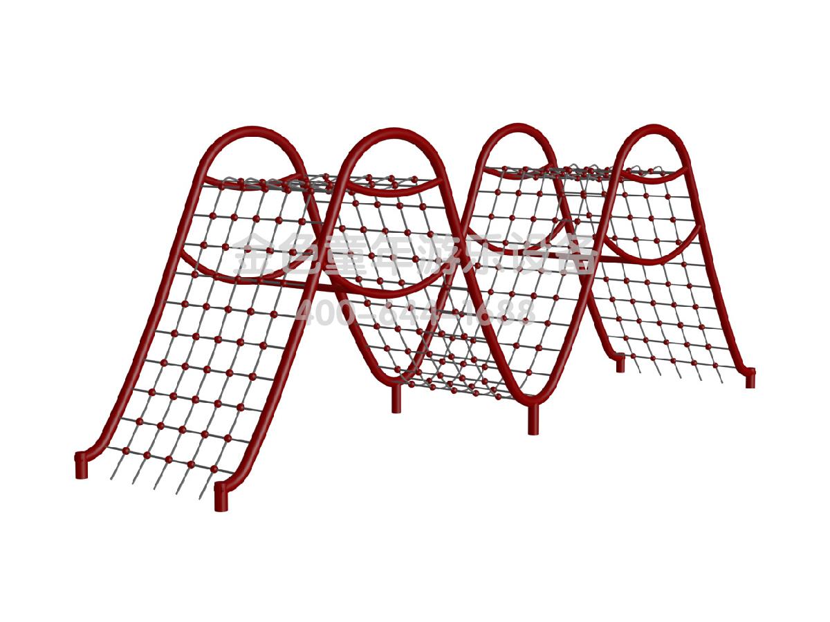M形爬网拓展运动攀爬架