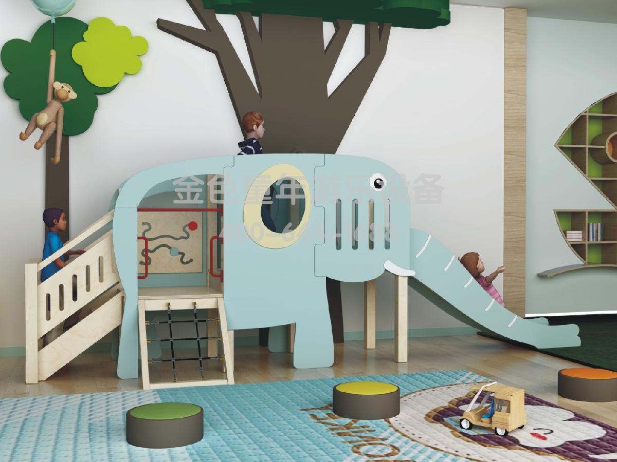 大象滑梯幼儿园室内游乐设施