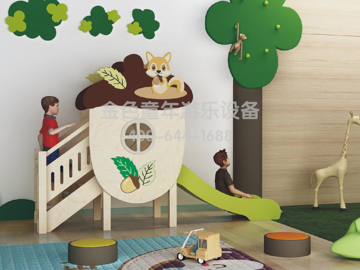 坚果滑梯幼儿园室内游乐设施