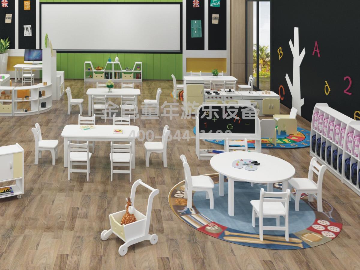 美术室幼儿园桌椅