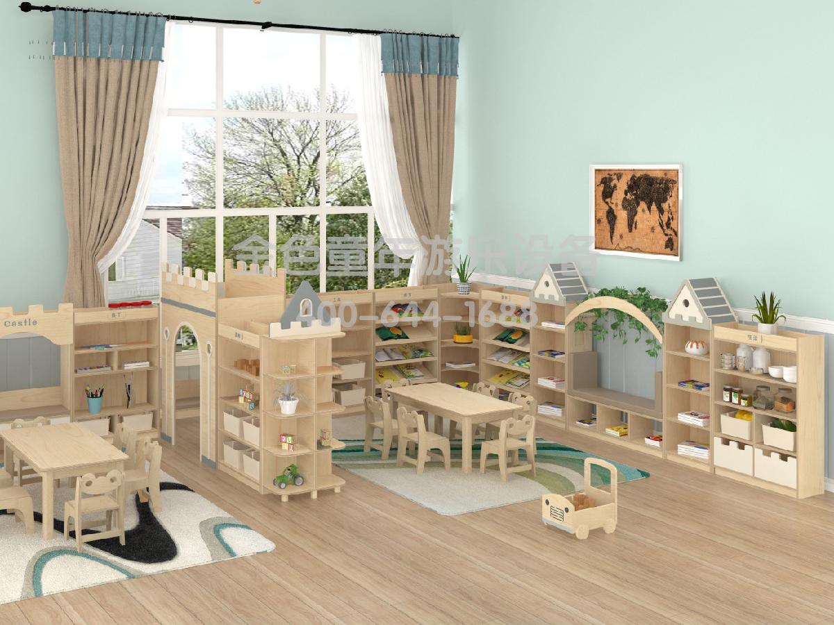 阅览室幼儿园组合柜