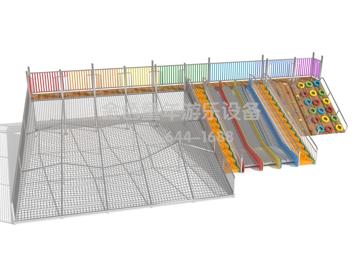 彩虹滑梯攀爬组合